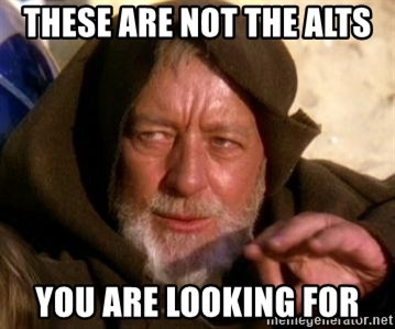 JEDI KNIGHT - These are not the alts you are looking for