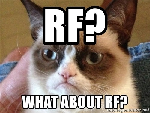 Angry Cat Meme - RF? What about RF?
