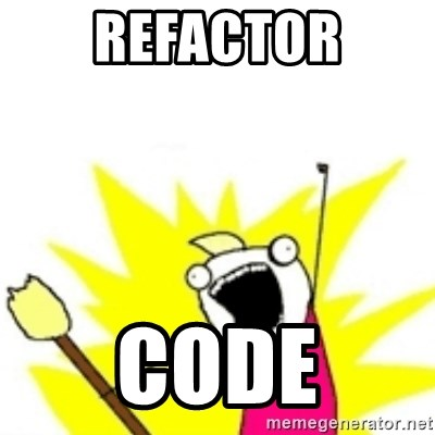 x all the y - refactor code