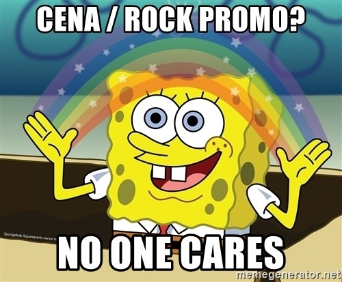 spongebob rainbow - cena / rock promo? no one cares