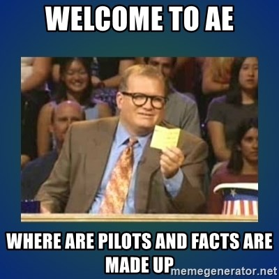 drew carey - WElcome to ae where are pilots and facts are made up