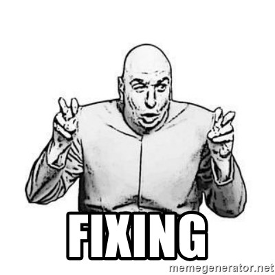 Sceptical Dr. Evil -  fixing