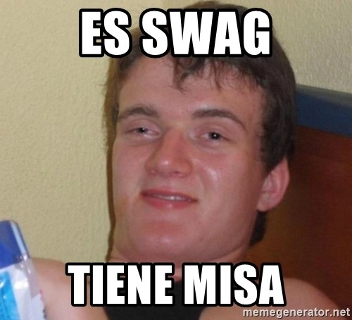 high/drunk guy - ES SWAG TIENE MISA