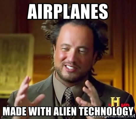 Ancient Aliens - airplanes made with alien technology