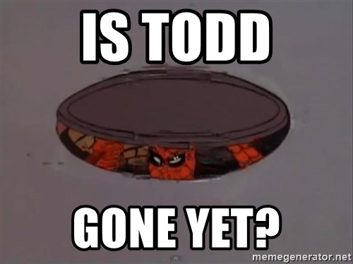 Spiderman in Sewer - Is Todd Gone yet?