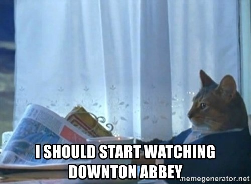 newspaper cat realization -  i should start watching downton abbey