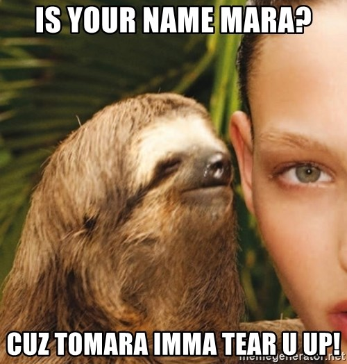 The Rape Sloth - Is your name Mara? cUz tomara imma Tear u up!