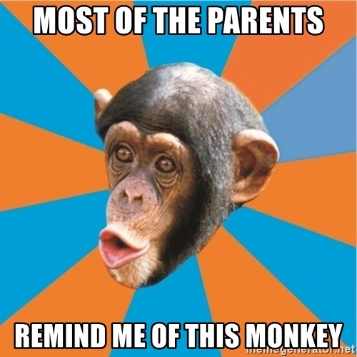 Stupid Monkey - most of the parents remind me of this monkey