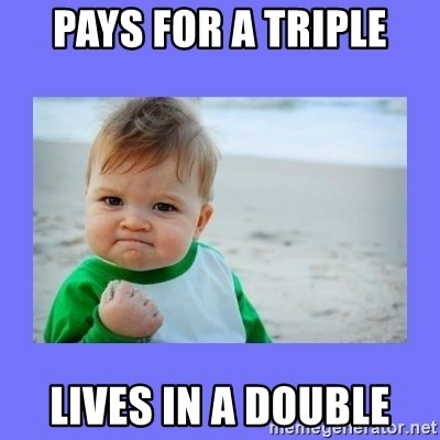 Baby fist - Pays for a triple Lives in a double