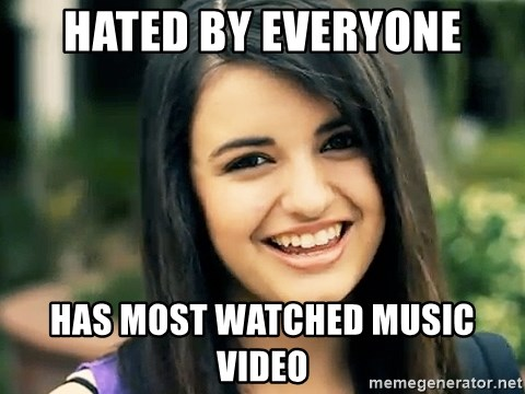 Rebecca Black Fried Egg - HATED BY EVERYONE HAS MOST WATCHED MUSIC VIDEO
