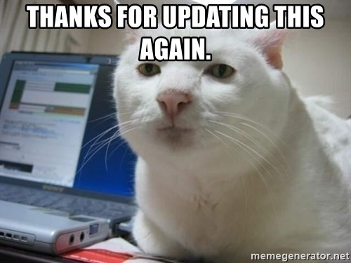 Serious Cat - Thanks for updating this again.