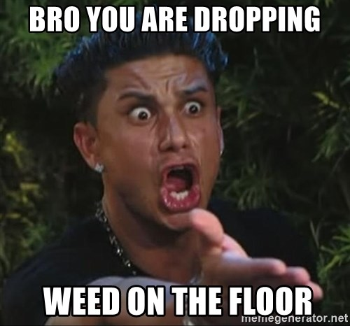 Pauly D - bro you are dropping  weed on the floor