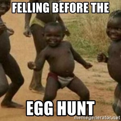 Black Kid - FELLING BEFORE THE  EGG HUNT