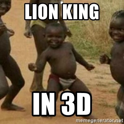 Black Kid - LION KING  IN 3D