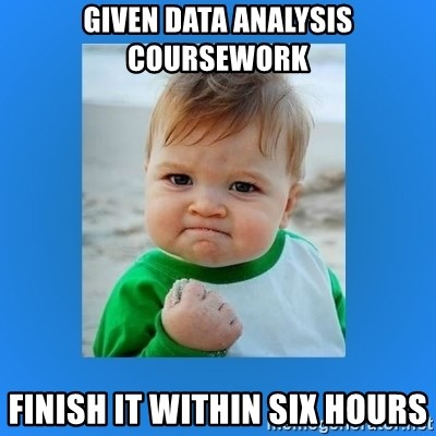 yes baby 2 - Given data analysis coursework FInish it within six hours