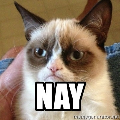 Grumpy Cat  -  Nay