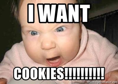 Angry baby - I WANT  COOKIES!!!!!!!!!!