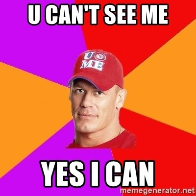 Hypocritical John Cena - U CAN'T SEE ME  YES I CAN