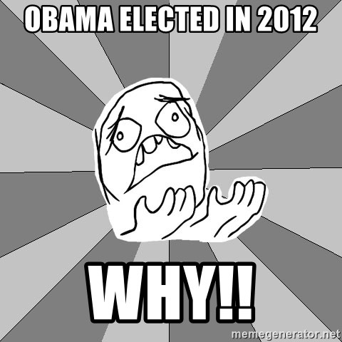 Whyyy??? - obama elected in 2012 WHY!!