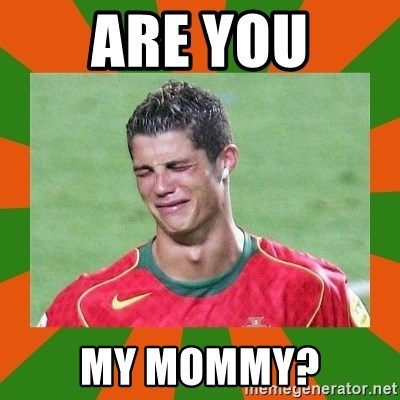 cristianoronaldo - are you my mommy?