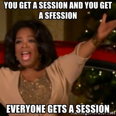 The Giving Oprah - You get a session and you get a sfession EVERYONE GETS A SESSION
