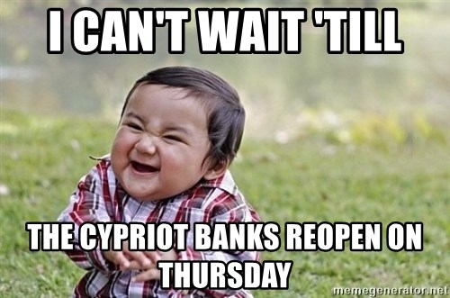 evil asian plotting baby - i can't wait 'till the cypriot banks reopen on thursday