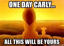 The Lion King - One day carly... All this will be yours