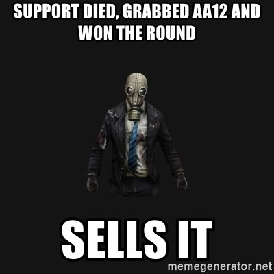 Killing Floor Newbie - Support died, grabbed AA12 and won the round Sells it
