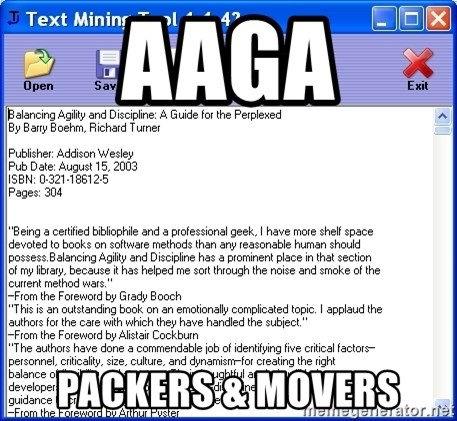 Text - Aaga packers & movers