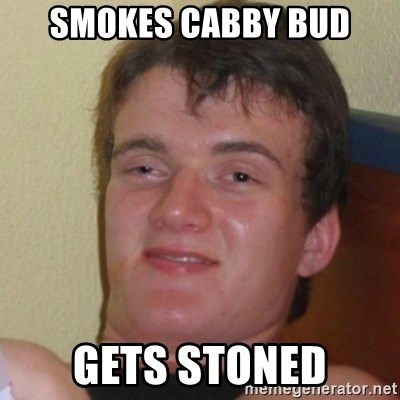 Really Stoned Guy - SMOKES CABBY BUD GETS STONED