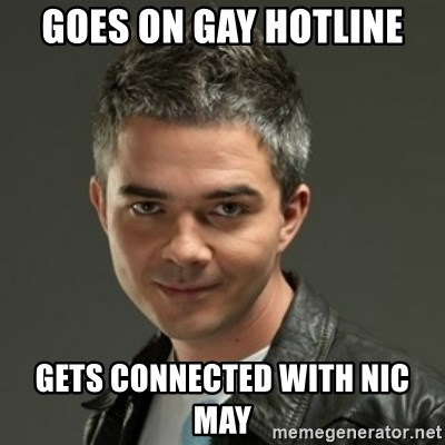 Gaylord - GOES ON GAY HOTLINE GETS CONNECTED WITH NIC MAY