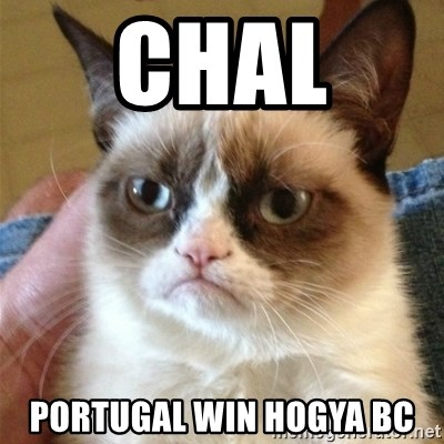 Grumpy Cat  - chal  portugal win hogya BC