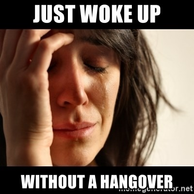 crying girl sad - just woke up without a hangover