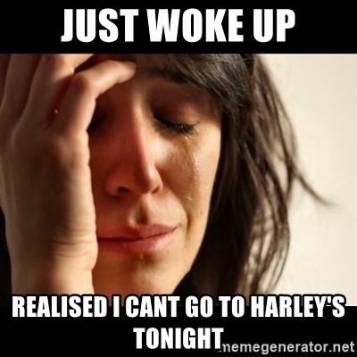 crying girl sad - just woke up realised i cant go to harley's tonight