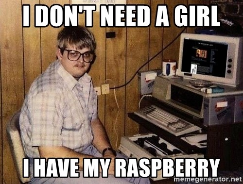 Nerd - I DON'T NEED A GIRL I HAVE MY RASPBERRY