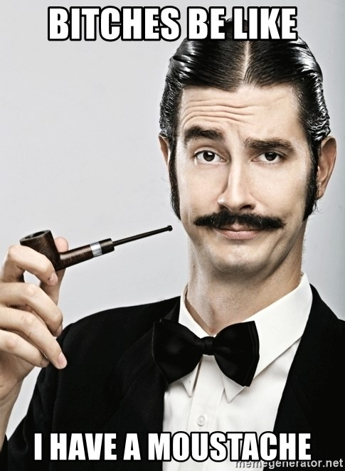 Snob - bitches be like i have a moustache