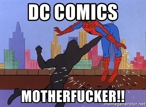 crotch punch spiderman - dc comics  motherfucker!!