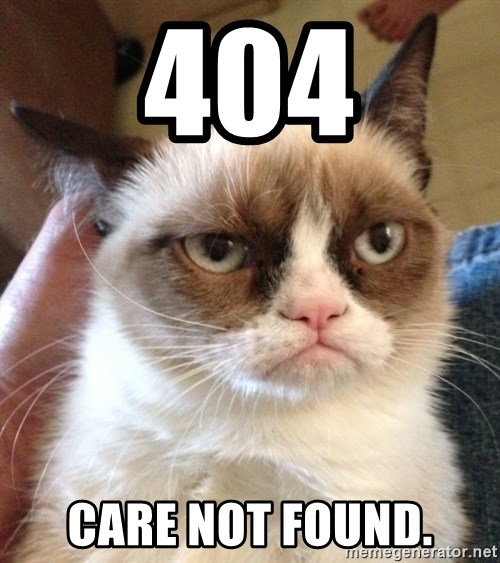 Grumpy Cat 2 - 404 care not found.