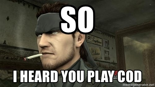 Solid Snake - so i heard you play cod