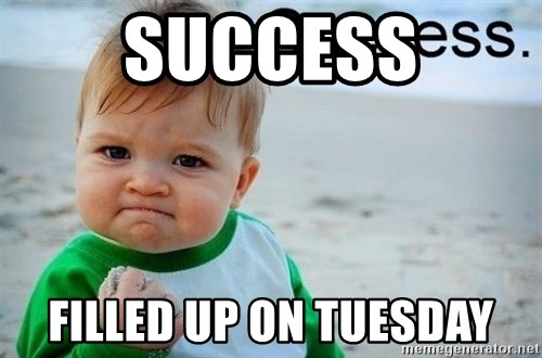 success baby - Success Filled up on tuesday