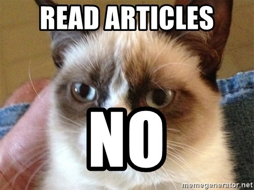 Angry Cat Meme - Read articles no