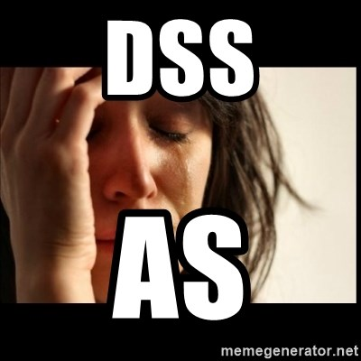 First World Problems - dss as