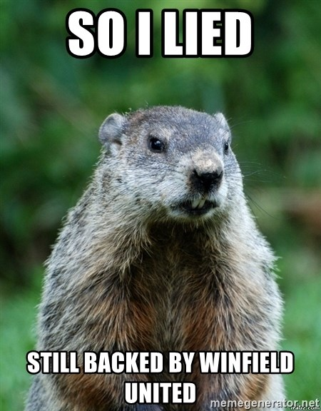 grumpy groundhog - so I lied still backed by winfield united