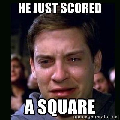 crying peter parker - HE JUST SCORED A SQUARE