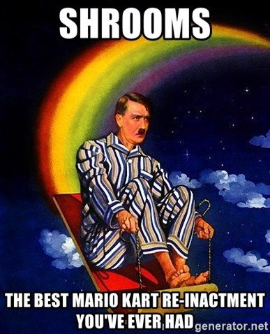Bed Time Hitler - shrooms  the best mario kart re-inactment you've ever had