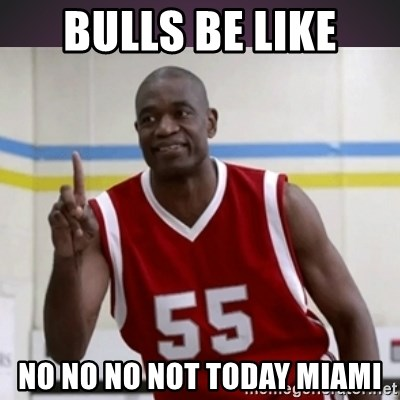 Not in my house Mutombo - Bulls be like no no no not today miami