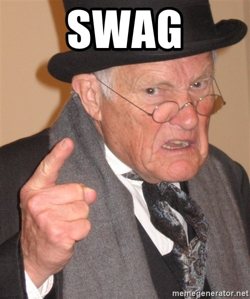 Angry Old Man - swag