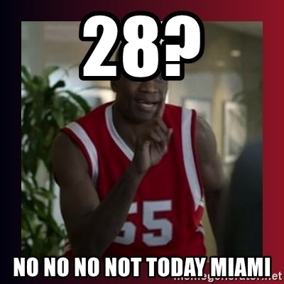 Dikembe Mutombo - 28? No no no not today miami