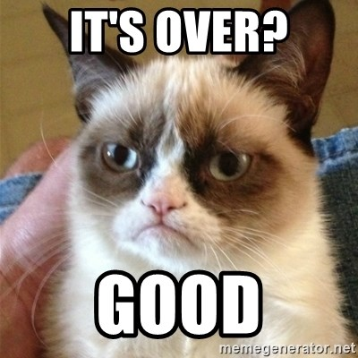 Grumpy Cat  - It's over? Good