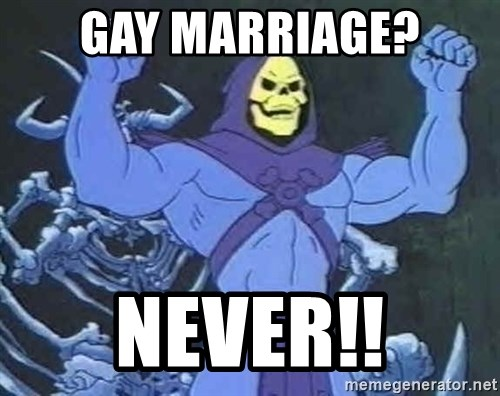 Skeletor - Gay Marriage? Never!!